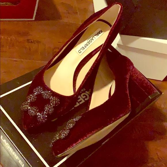 a0b73d243b6 Karl Lagerfeld Shoes - Manolo Blahnik Inspired Karl Lagerfeld Heels